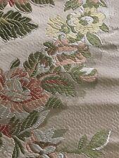 """2 Scalamandre fabrics- PALAZZO PALLAVICINI -V 25"""" H 27"""" Color MULTI PALE & Peach"""
