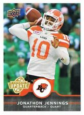 2016 UPPER DECK CFL VETERAN UPDATE #U1 Jonathon Jennings