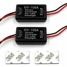 2x Flash Strobe Controller Flasher Module for LED Brake Light Tail Stop Light
