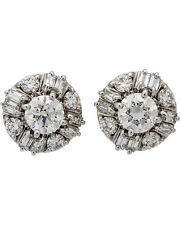 ROBERTO COIN 18K White Gold Lg Round Diamond Earrings 000245AWERX3 MSRP $17,000