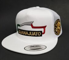 GUANAJUATO  MEXICO  HAT  MESH TRUCKER WHITE SNAP BACK ADJUSTABLE  NEW 2LOGOS