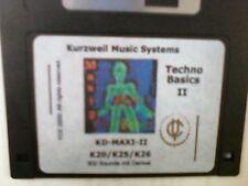 Kurzweil ~ TECHNO BASICS 2 ~  KD-MAXI-2 ~ V.A.S.T. 300 Native KRZ Programs!!!