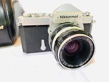 NIKON NIKKORMAT FTN CAMERA W/ NIKKOR-H AUTO 50mm f2 NIKON LENS TESTED + CASE