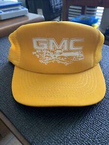 Vintage GMC Trucker Hat Mesh SnapBack One Size Fits All Trucks Brand new Yellow