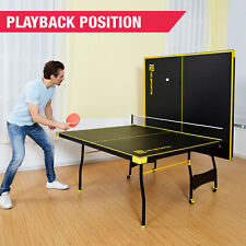 Tennis Ping Pong Official Size Table Indoor Foldable Paddles Post Balls Included
