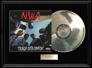 NWA N.W.A.RARE WHITE GOLD SILVER PLATINUM TONE RECORD LP VINYL ALBUM NON RIAA