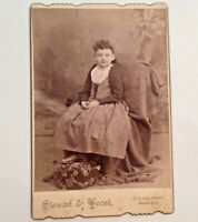 Cabinet Card Photo Oneida NY Vintage Young Girl Stewart Voost Antique