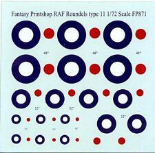 Fantasy Printshop Decals 1/72 British WWII R.A.F. ROUNDELS TYPE II