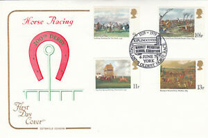 (09100) GB Cotswold FDC Horseracing Kiplingcotes Market Weighton 1979