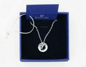 Swarovski Now Swan Crystal Pendant Necklace, Silver Tone, 100% Genuine