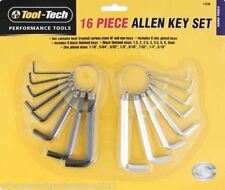 Tool-Tech Performance Tools 16 piece Allen Key Set DIY Garage Hand Tool Keys
