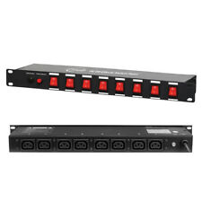 PC 08 Lighting Effects Controller Switch Panel 8-Way IEC Rack Mount DJ Disco