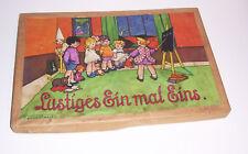 Spear Legespiel Lustiges Ein mal Eins Mädchen Kinder Legetafeln um 1930 !