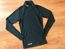 Mens Black UNDER ARMOUR GYM FITNESS GOLF Compression TOP (M) *L@@K*