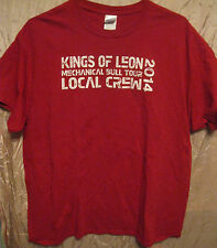 Kings Of Leon Authentic 2014 Mechanical Bull Tour Crew Only Shirt Xl Mint