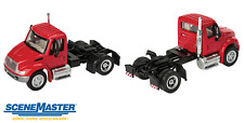1:87 HO Scale International 4300 Red Single Axle Tractor SceneMaster #949-11131