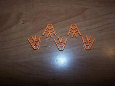 K'nex Orange 2 Position Standard Connectors Lot of 5