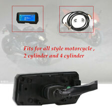 DC12V Motorcycle 2,4 Cylinder LCD Digital Speedometer RPM Speed Odometer Kph Mph