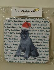 Schnauzer Happy Howlidays Christmas Coasters Fur Children Zeppa Studios