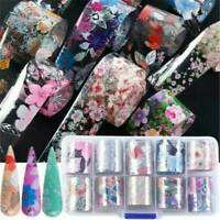 Flower Transfer Manicure Decor Nail Foil Nail Art Stickers Holographic Decals UK
