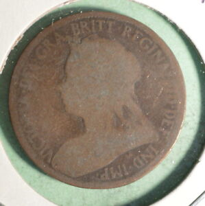 1896 Great Britain Half Penny  -  INV#GB194