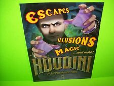 American Pinball HOUDINI Original Flipper Game Pinball Machine Flyer Version #1