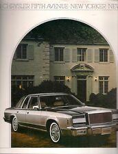 Chrysler Newport New Yorker Fifth Avenue 1981 USA Market Sales Brochure