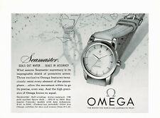 1950s Original Vintage Omega Seamaster Watch Photo Print Ad