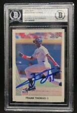 Frank Thomas Chicago White Sox SIGNED 1990 LEAF BECKETT CERTIFIED 3