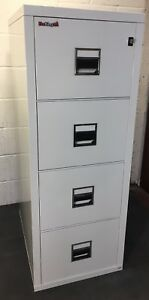 Fire proof filing Cabinet 4 Drawer Safe by Fire-King Free Manchester Delivery**