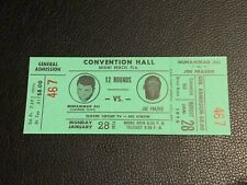 1974 Muhammad Ali Vs. Joe Frazier Original Vintage Boxing TICKET PSA Ready Mint