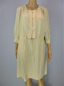 See By Chloe cream silk & cotton 3/4 sleeve dress size UK8/US4