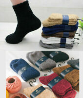 Winter Men Comfy Warm Fluffy Fleece Soft Home Bed Floor Thick Ankle Socks 1 Pair