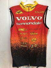 Libor Karas Used Vintage Volvo Cannondale Cycling Vest 1996 S M L Fleece Dacron
