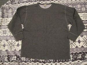 $45 Mens LL BEAN Crewneck Double Layer Thermal Underwear Shirt 2772213 Gray 2XL