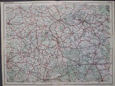 Dunlop Strassenkarte 17 Lötzen / Giżycko, Ortelsburg, Rastenburg, Polen ca. 1927