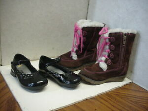 Adorable Patent Leather Dress Shoes & Pair of Boots - Little Girls Sz. 6