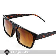 Trendy Tortoise Flat Top Hipster Fashion New Sunglasses Glasses S093
