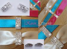 10 x Luxury Clasp Grade A Diamante Rhinestone Ribbon Slider (Buckle)