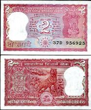 INDIA 2 RUPEES (1985-1990) P-53Ac SIGN 85 UNC , MALHOTRA  , LETTER A , TIGER