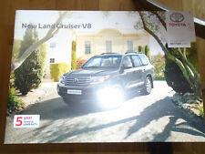 Toyota Land Cruiser V8 range brochure Mar 2013