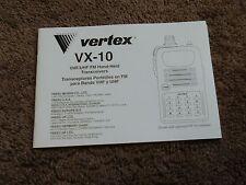 Yaesu Vertex VX-10 Hand-Held Transceiver Radio Owners Operating Manual Operation