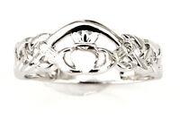 Sterling Silver Irish Claddagh Ring Size 6, 7, 8, 9, 10 Friendship Love Loyalty