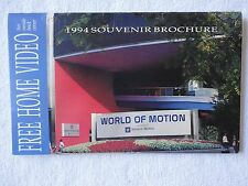 Walt Disney World - Epcot World of Motion - 1994 Souvenir Brochure - GM Cars