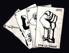 CULTURA DE LAS RAZAS UNIDAS tee XL Viva La Causa T shirt MSU Latino CRU cards