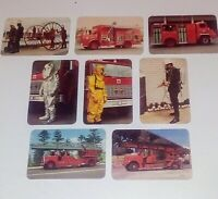 Vintage NSW Fire Brigade Collector Cards X 8 - From Early 1980s