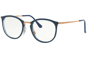 New Authentic Ray Ban RX7140 5853 Transparent / Blue Eyeglasses 51-20-150