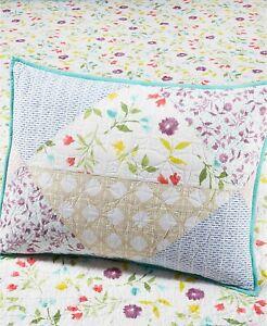Martha Stewart STANDARD Pillow Sham Pergola Patchwork Cotton 257