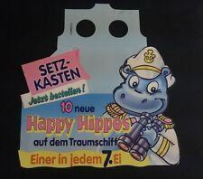 """Original Palettenanhänger """"Happy Hippos auf dem Traumschiff"""" Deutschland 1992"""