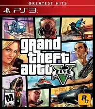 Grand Theft Auto 5 V [PlayStation 3 PS3, Greatest Hits, Action Carjacking] NEW